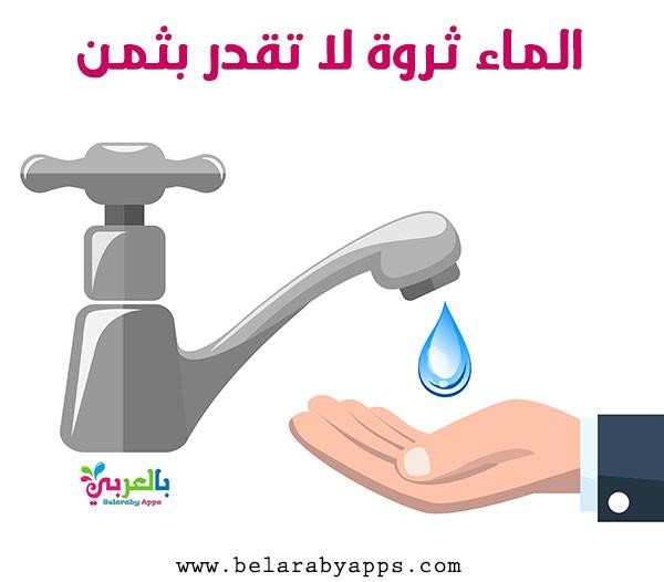 رسمقطرة ماء للاطفال - رسم عن الماء سر الحياة