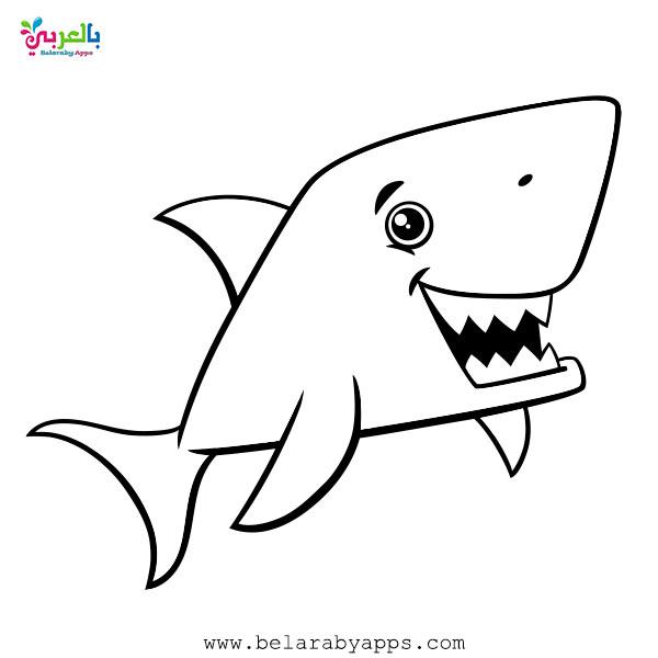 سمك القرش تلوين