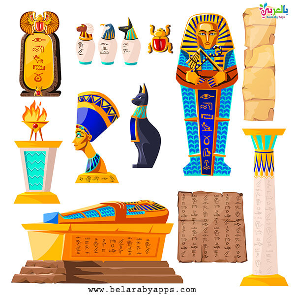 رسومات آثار مصر الفرعونية القديمة