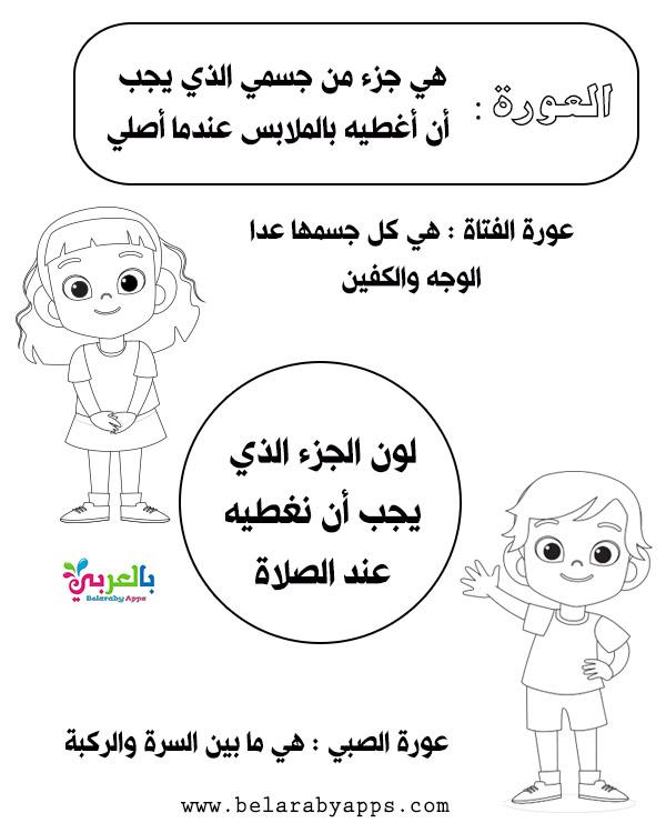نشاط تلوين للاطفال - شروط الصلاة