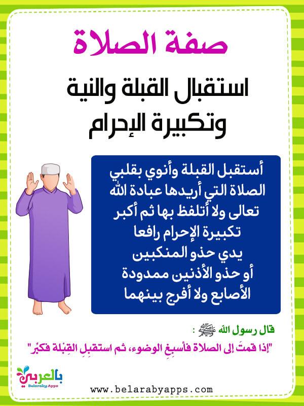 صفة الصلاة الصحيحة بالصور