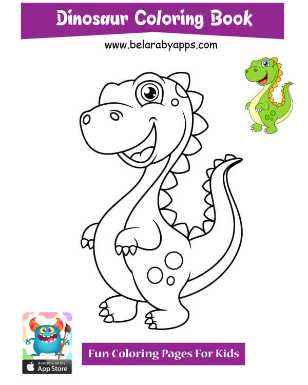 صور رسومات ديناصورات للتلوين للأطفال