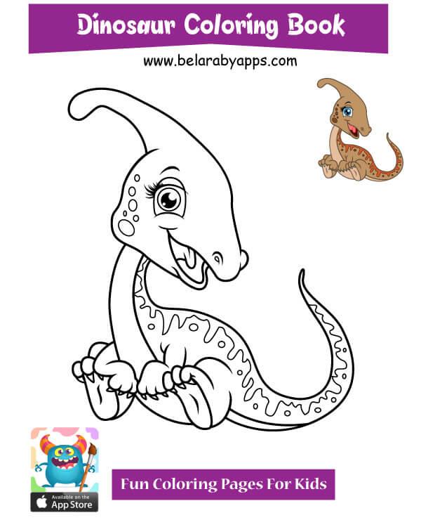 رسومات مفرغة للاطفال - رسم ديناصور