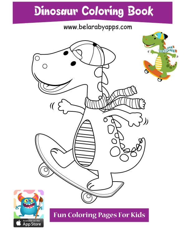 رسومات ديناصورات للاطفال تلوين