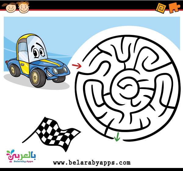 افكار لعبة المتاهة للاطفال بالصور