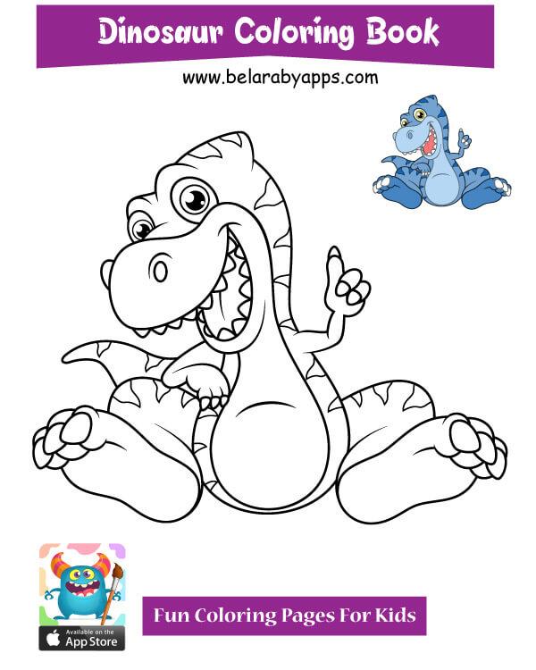 رسمة ديناصور للتلوين
