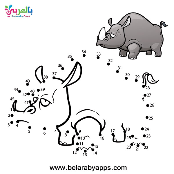 لعبة توصيل النقاط لرسم الحيوانات