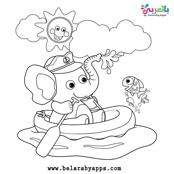 رسم فصل الصيف للاطفال