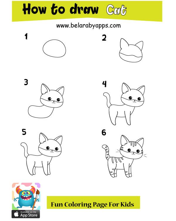 تعليم الرسم للاطفال حيوانات بالخطوات رسم حيوانات كيوت بالعربي
