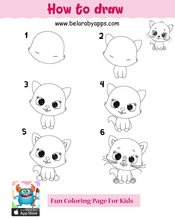 رسم أطفال سهل وجميل بالخطوات