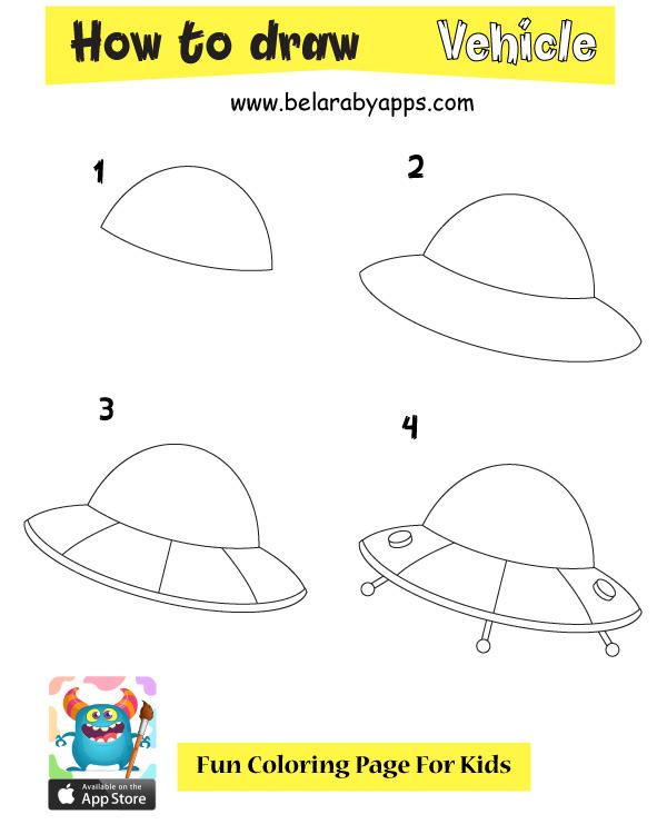 بالصور تعلم رسم مركبة فضائية