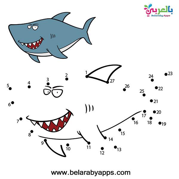 أوراق تعليمية للاطفال رسومات توصيل النقاط
