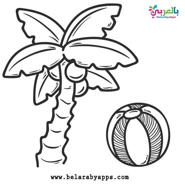 اوراق عمل للتلوين : Free Printable Preschool Summer Coloring Pages