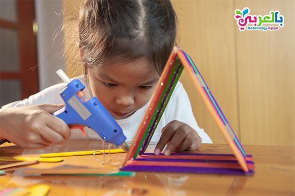أفكار للعب مع الأطفال في المنزل - انشطة بعصا الايس كريم