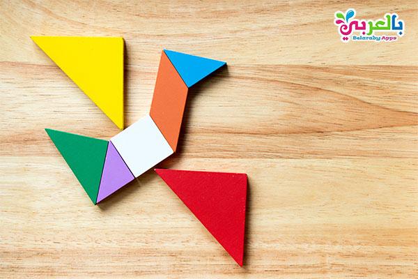 أفكار للتسلية في البيت - لعبة بازل تانجرام منتسوري