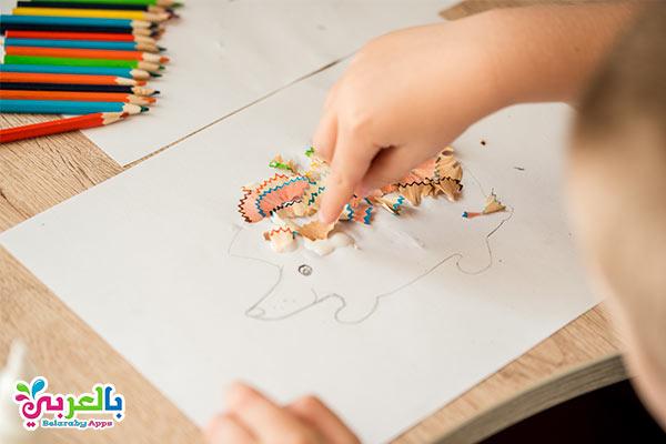 استغلال برى القلم الخشبى - أفكار للعب مع الأطفال في المنزل