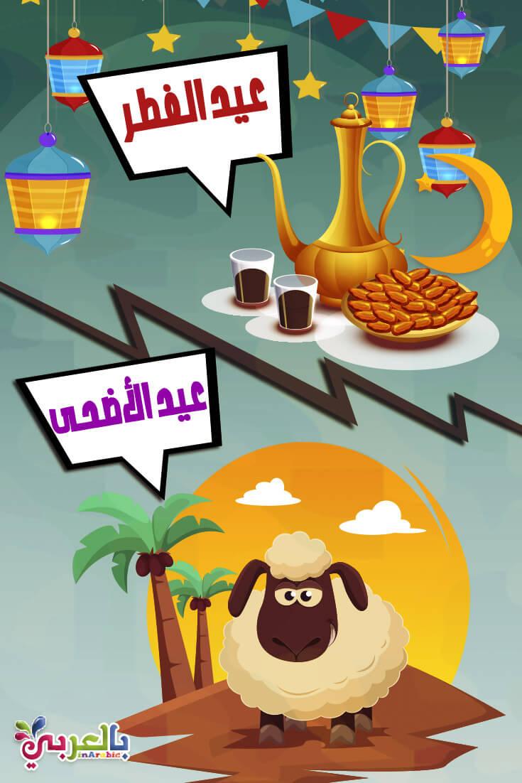 حوار بين عيد الفطر وعيد الاضحى 2020 للاطفال