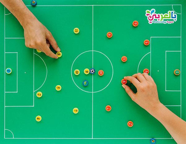 لعبة تعليم تخطيط فريق كرة القدم - ألعاب أطفال ممتعة