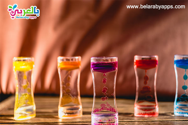العاب مائية مسلية - لعبة بالماء والألوان الزيتية.