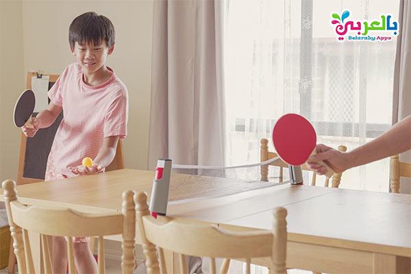 لعبة بينج بونج بالمنزل