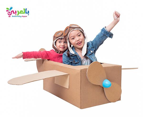 اعمال يدوية للاطفال بالكرتون - أفكار للعب وتسلية الأطفال في المنزل