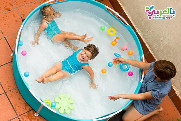 حمام سباحة منزلي للاطفال - أفكار للعب وتسلية الأطفال في المنزل