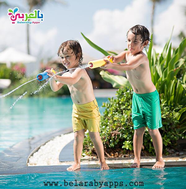 لعبة مدفع الماء - افكارالعابمائيةللاطفال