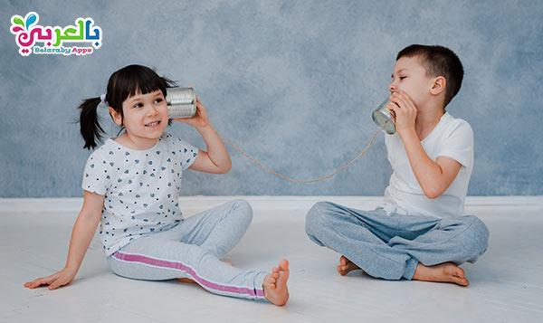 لعبة التليفون من الاكواب - أفكار للعب وتسلية الأطفال في المنزل