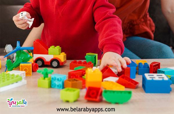 لعبة مكعبات البناء - ألعاب تنمية الذكاء للأطفال