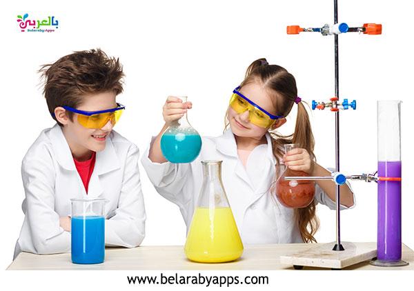 لعبة التفاعلات الكيميائية للأطفال