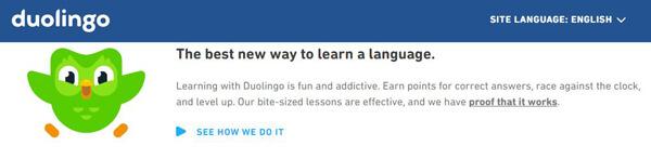 موقع Duolingo - مواقع تعليم اللغة الإنجليزية للاطفال