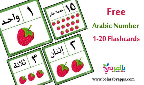 Free! Arabic Number Flashcards Printable