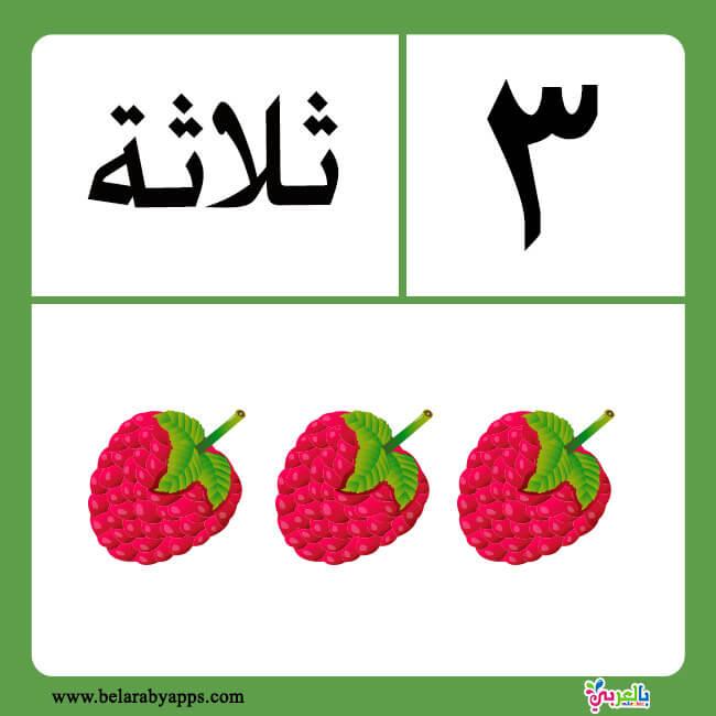 Arabic numbers in words