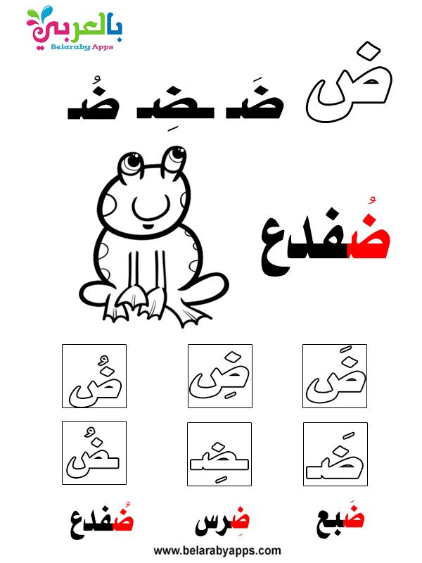 تعليم الحروف في أول ووسط وآخر الكلمة - learn arabic alphabet letters with words pdf