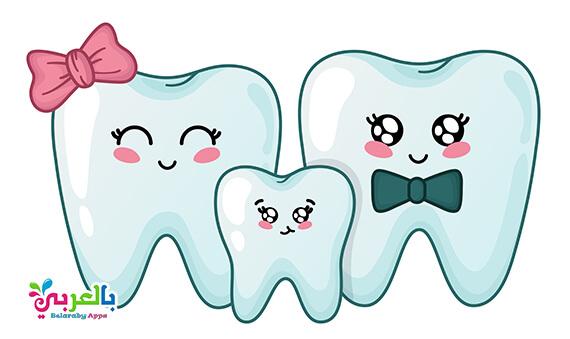 رسومات عن نظافة الاسنان .. عبارات ارشادية عن صحة الاسنان