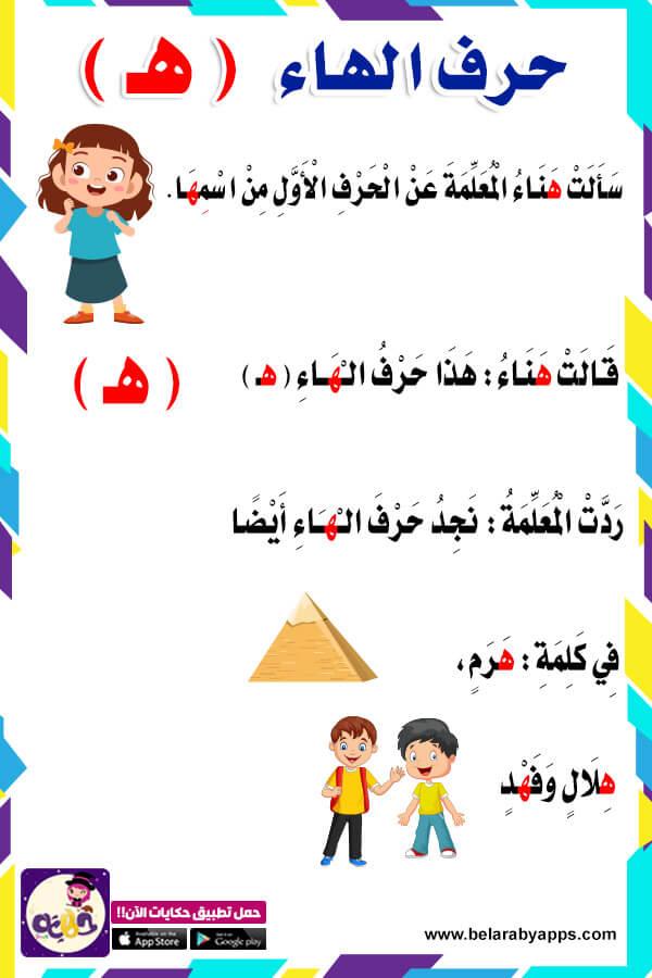 قصة حرف الهاء للاطفال - قصص الحروف مصورة