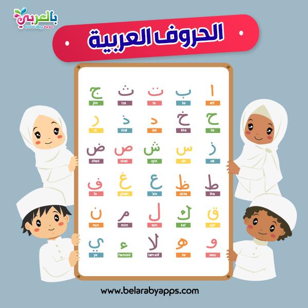 لوحة الحروف العربية للطباعة - اليوم العالمي للغة العربية للاطفال