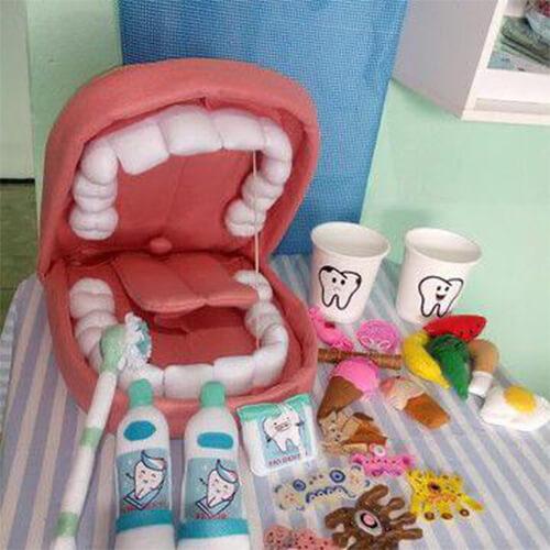 وسائل تعليمية عن نظافة الاسنان للاطفال .. أفكار مجسمات اسنان