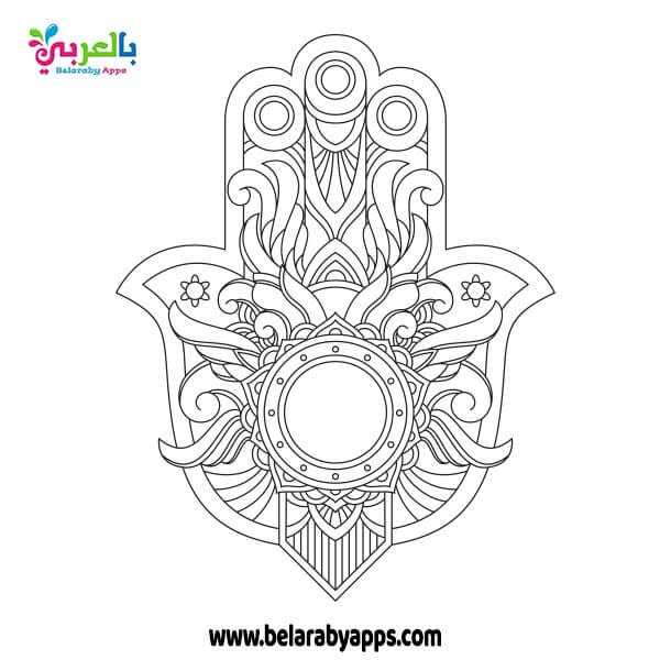 رسومات ماندالا بسيطة للطباعة - رسومات زخرفية اسلامية