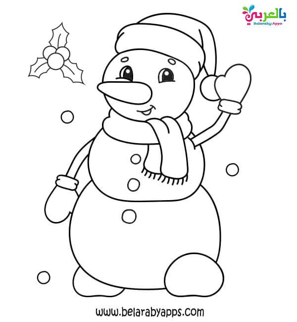 اوراق تلوين عن فصل الشتاء للأطفال