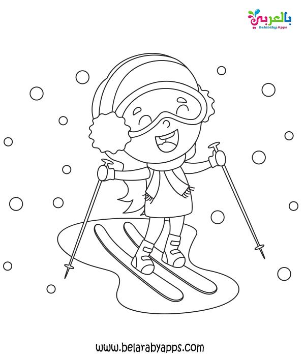 رسم عن فصل الشتاء للاطفال