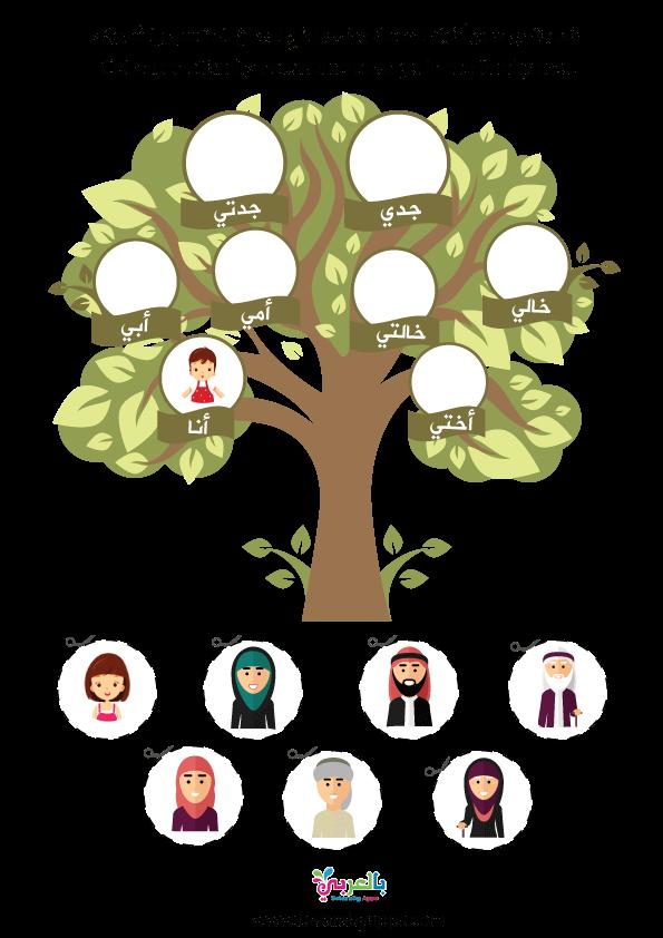 ورقة نشاط شجرة عائلتي