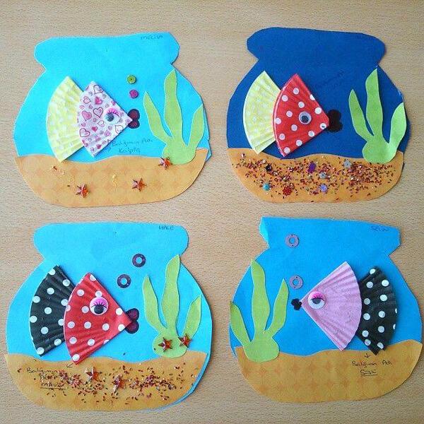 وسائل تعليمية وحدة الماء رياض اطفال - اعمال فينة اسماك وحدة الماء