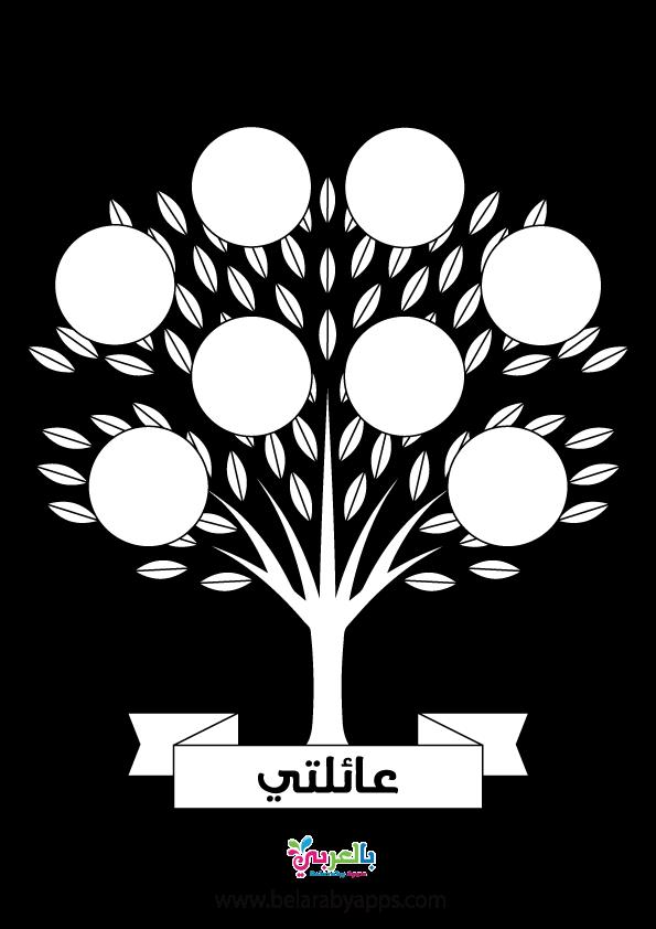 اوراق عمل شجرة العائلة لرياض الاطفال