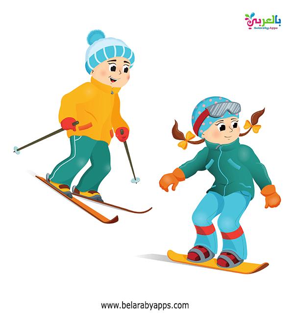 رسومات اطفال عن فصل الشتاء 2021