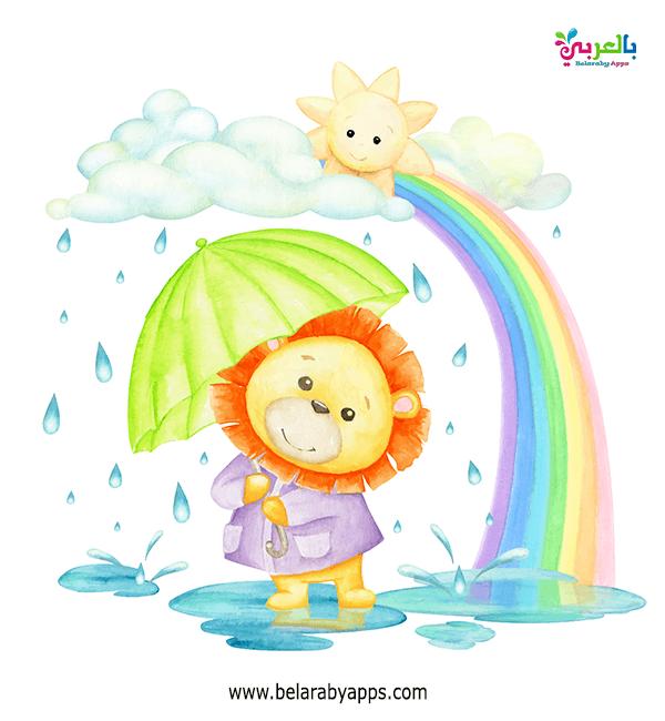رسومات جميلة عن الشتاء للاطفال