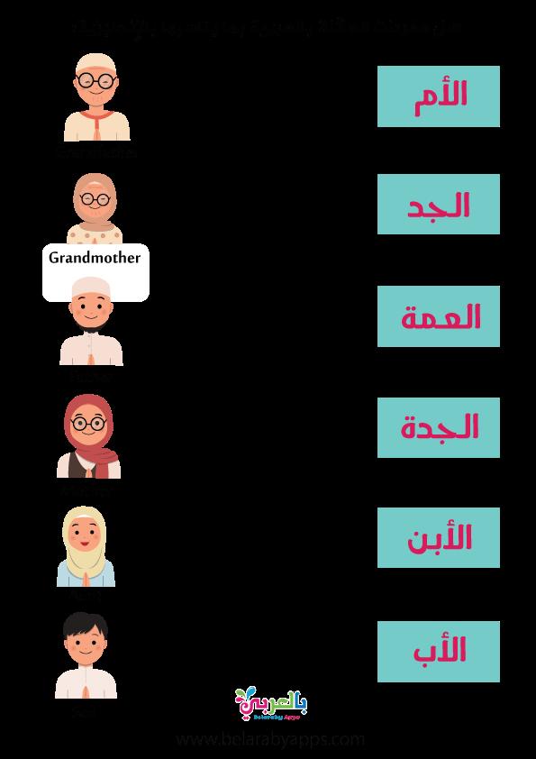 اسماء افراد الاسرة العائلة 1
