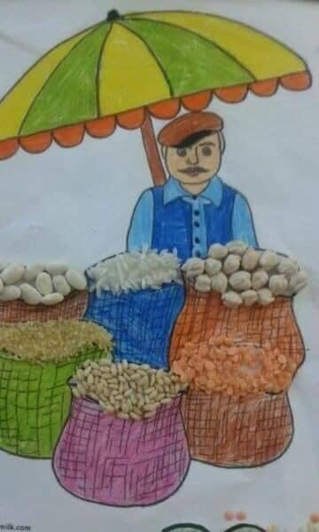 وسيلة تعليمية انواع الحبوب للأطفال .. وحدة الغذاء