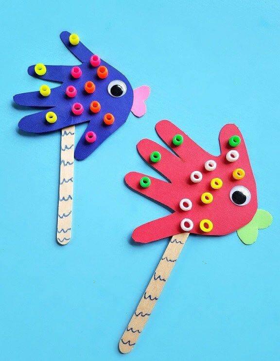 توزيعات لاطفال الروضة وحدة الأيدي – انشطة يدوية