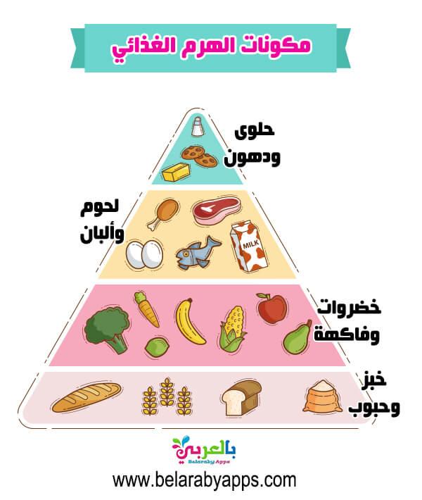 بالصور تحضير الهرم الغذائي للاطفال .. صور المجموعات الغذائية للاطفال